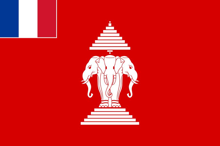 Laos drapeau du laos indochine francaise 1893 1953