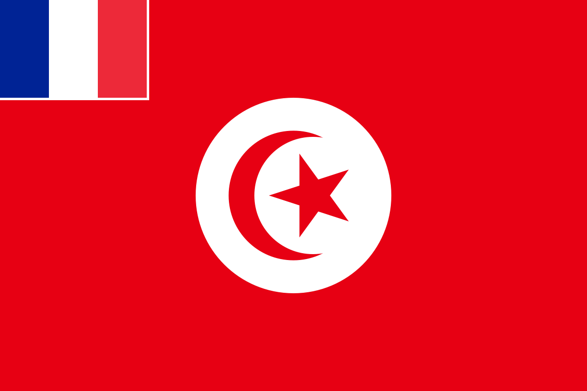 Tunisie drapeau de la tunisie francaise 1881 1956